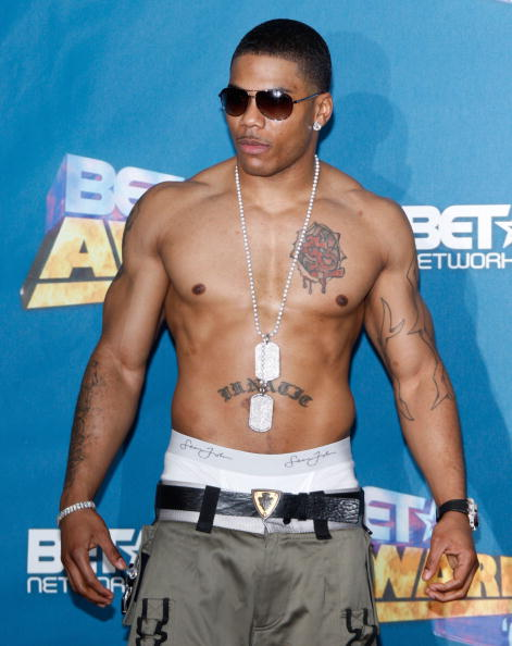 LOS ANGELES, CA - JUNE 24:  Rapper Nelly poses in the press room at the 2008 BET Awards held at the Shrine Auditorium on June 24, 2008 in Los Angeles, California.  (Photo by Frazer Harrison/Getty Images)